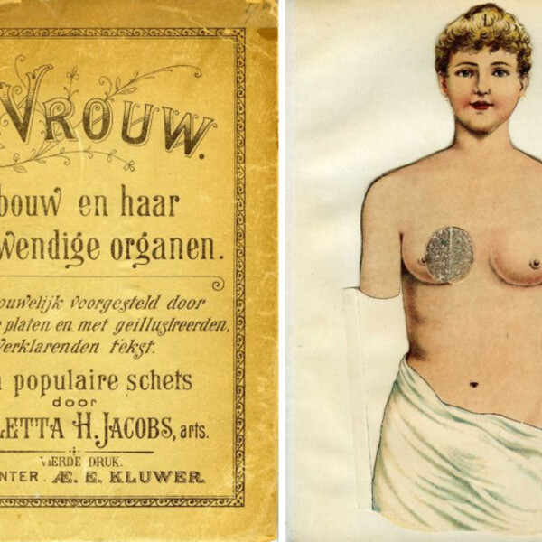 The first Dutch book about female body written by female author, Aletta Jacobs. © National Library of the Netherlands