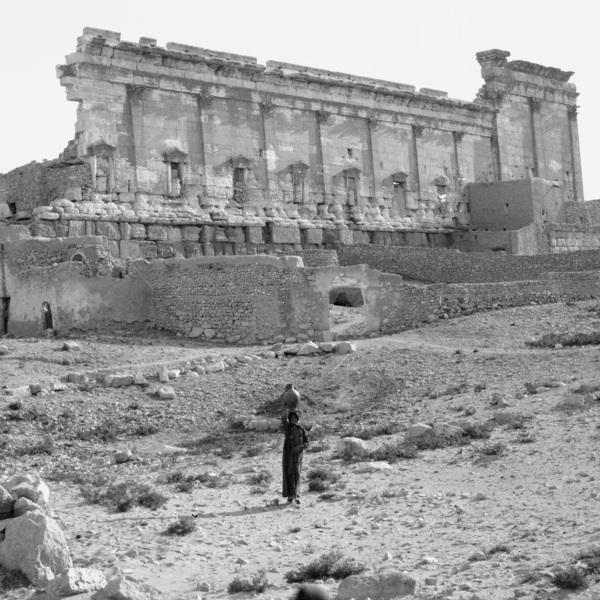 Temple of Bel - Eastern precinct wall, exterior,AD 32,May 1900, Palmyra - Syria, Album A 1899 - Italy, Turkey, Lebanon, West Bank, Syria, Jordan, Israel. © Ian Johnson_Mark Jackson, New Castle University